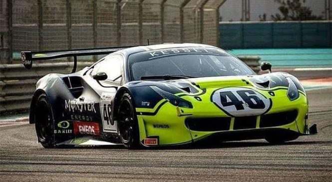 Rossi na 12 urni dirki v Abu Dabiju do tretjega mesta