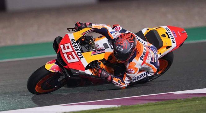 Marquez v Katarju spet na tleh, rama povzroča več težav