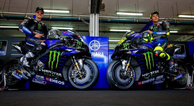 Vinales in Rossi predstavila Yamahin motocikel