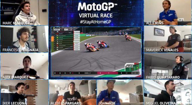Prva virtualna dirka v razredu MotoGP pripadla Alexu Marquezu