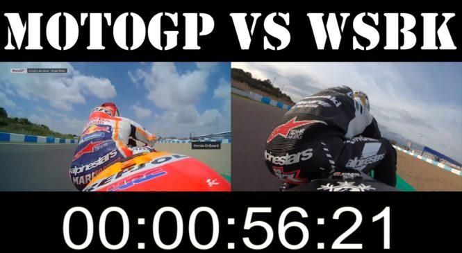 VIDEO: MotoGP proti WSBK na stezi v Jerezu.