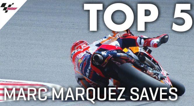 VIDEO: Pet primerov, ko se je Marquez s svojo čarovnijo rešil pred padcem