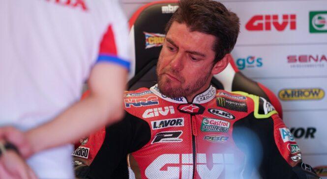 Crutchlow bo izpustil dirko v Jerezu zaradi poškodbe hrbta