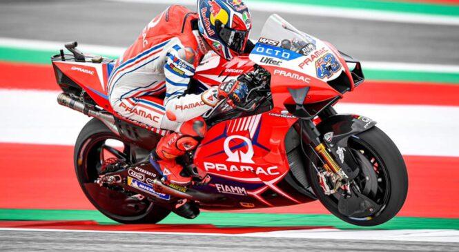 MotoGP Avstrija: Millerju mokro – suhi drugi trening