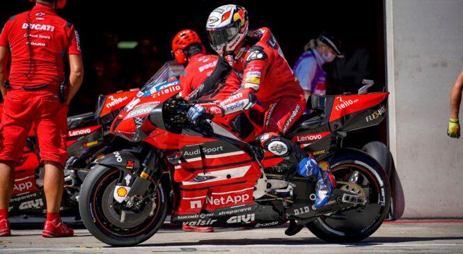 MotoGP VN Štajerske: Dovizioso najhitrejši na jutranjih ogrevanjih pred dirko