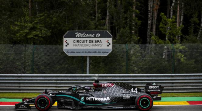 F1 VN Belgije – Hamilton na kvalifikacijah premagal Bottasa, oba Ferrarija močno razočarala