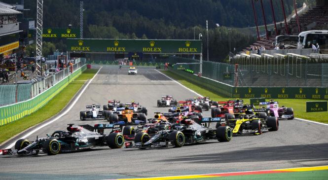 Formula 1 točkovanje prvenstva 2020 po VN Belgije