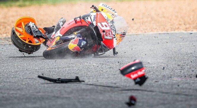 Je Marquezov padec povzročila napaka na elektroniki?
