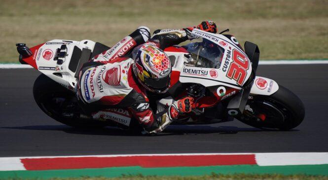 MotoGP Misano: Nakagami najhitrejši na jutranjih ogrevanjih