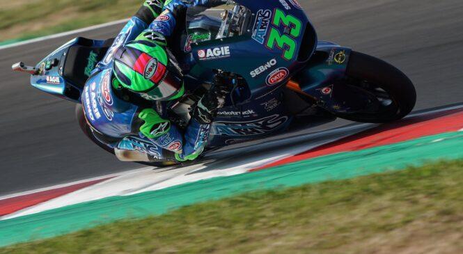 Moto2 Misano: Bastianini do zmage na prekinjeni dirki v Misanu