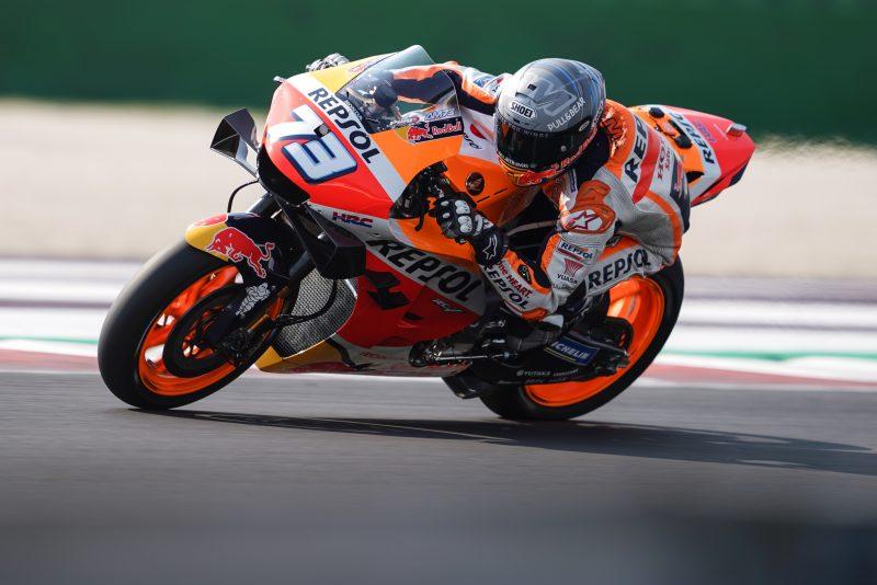 Alex Marquez je bil prvič v karieri najhitrejši na jutranjih ogrevanjih pred dirko MotoGP