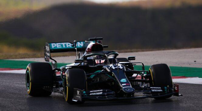 VN Portugalske F1: Hamilton ugnal Bottasa in slavil 97. pole position v karieri