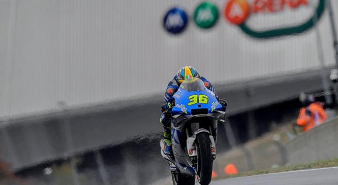 Mir z dobrimi občutki na motorju, vendar priznava, da niso hitri kot Yamaha
