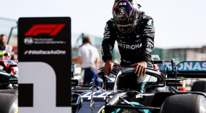 F1 VN Portugalske: Hamilton presegel Schumacherja, Mercedes skoraj prvak med moštvi