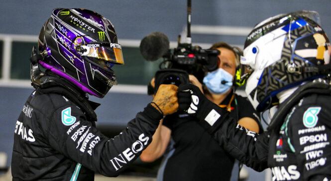 VN Bahrajna, kvalifikacije: Hamilton in Bottas iz prve startne vrste