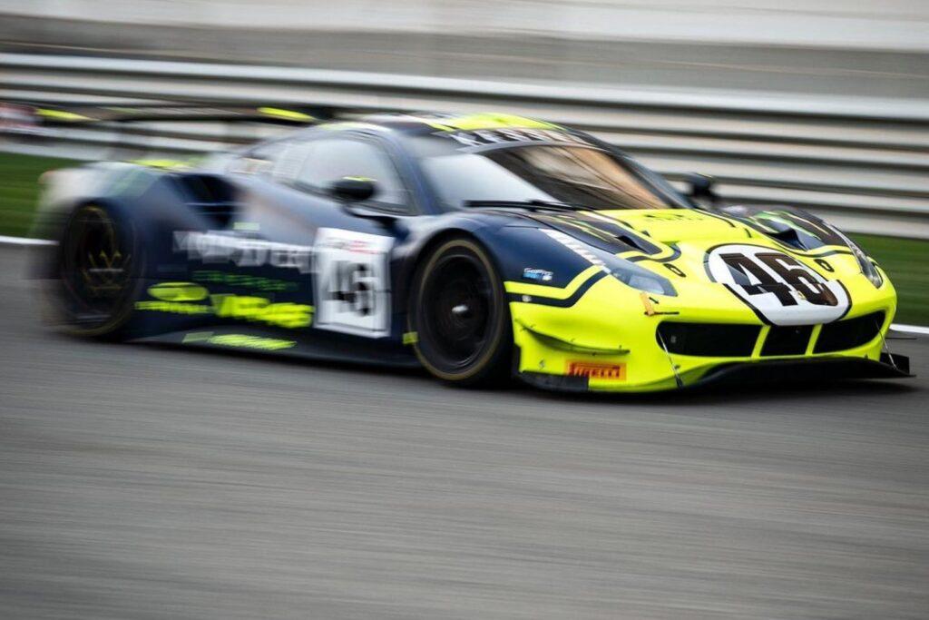 Valentino Rossi je na dirki Gulf12 nastopil s Ferrarijem 488