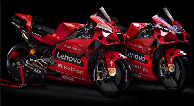 Jack Miller in Francesco Bagnaia v novih Ducatijevih barvah 2021