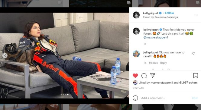 "Verstappen je Kelly Piquet zapeljal ""en krog"" po stezi v Barceloni"