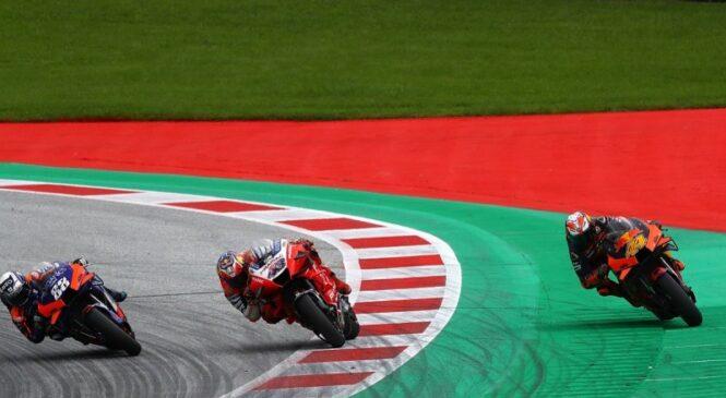 MotoGP z dodatnimi senzorji nad vožnjo izven steze