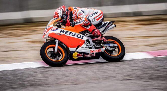 Marc Marquez je že dirkal z motorjem