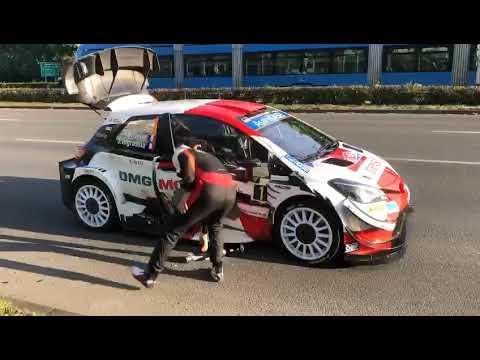 Svetovni WRC prvak v Zagrebu skoraj povozil policista