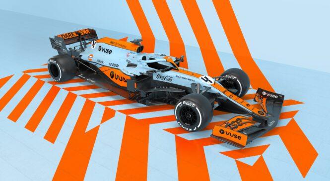 McLaren razkril posebno poslikavo Gulf Oil za dirko v Monaku