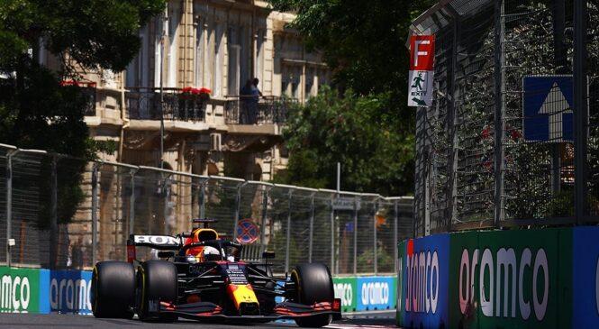 F1 Baku: Verstappnu 1. prosti trening, Ferrari na 2. in 3. mestu