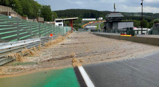 Poplave prizadele dirkališče Spa Francorchamps
