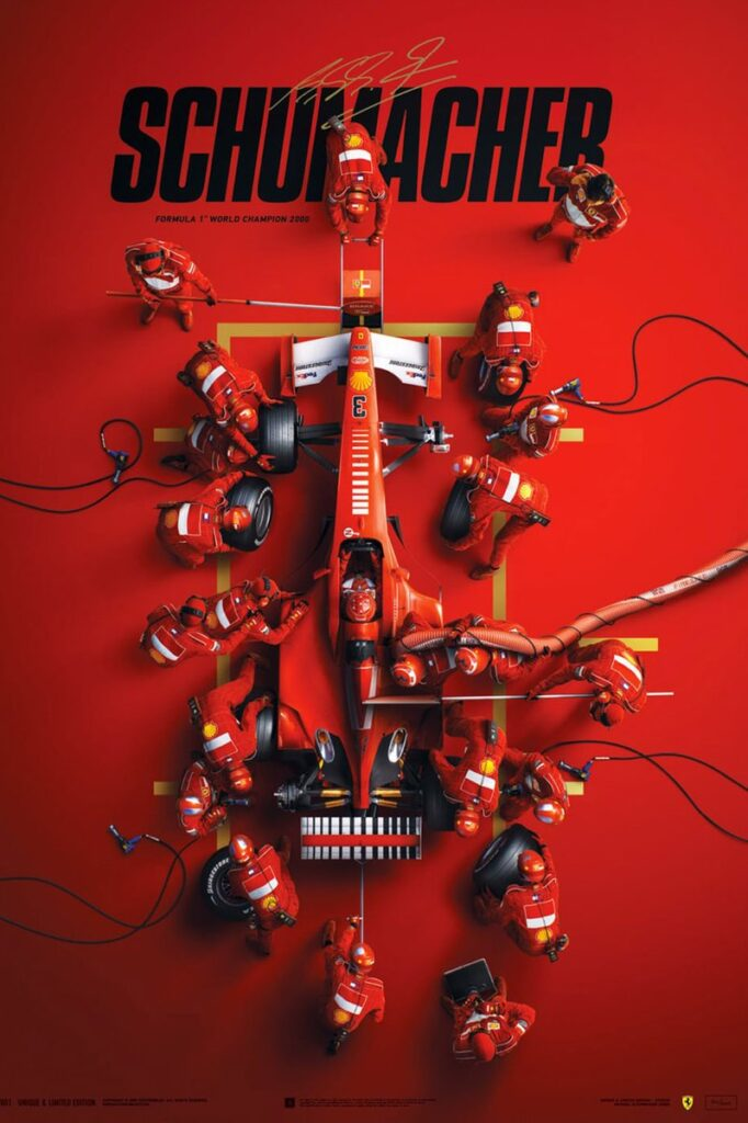 Poster dokumentarnega filma o Michaelu Schumacherju