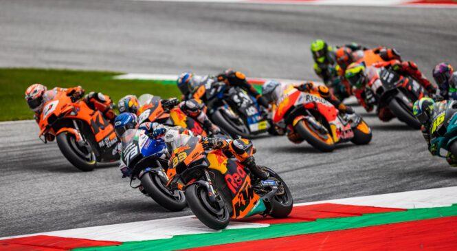 MotoGP Avstrija: Binderju zmaga na z dežjem začinjeni dirki v Spielbergu