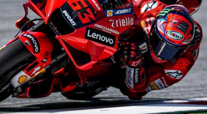MotoGP Avstrija FP3: Bagnaia najhitrejši, Martin po padcu v Q1
