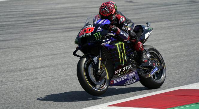 MotoGP Avstrija: Quartararo dobil jutranja ogrevanja pred dirko, Zarco padel