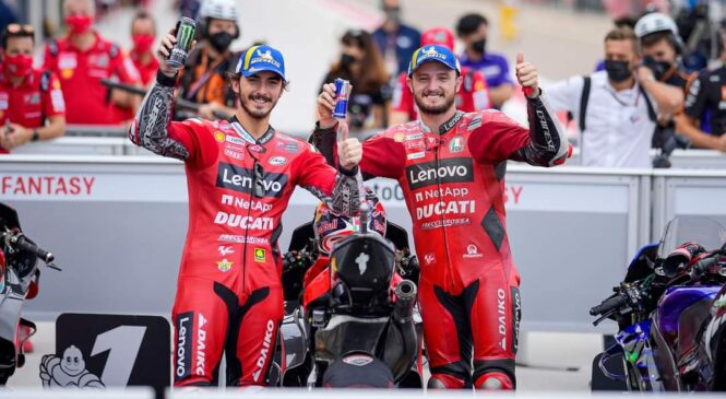 MotoGP: Bagnaia z rekordom proge dobil kvalifikacije