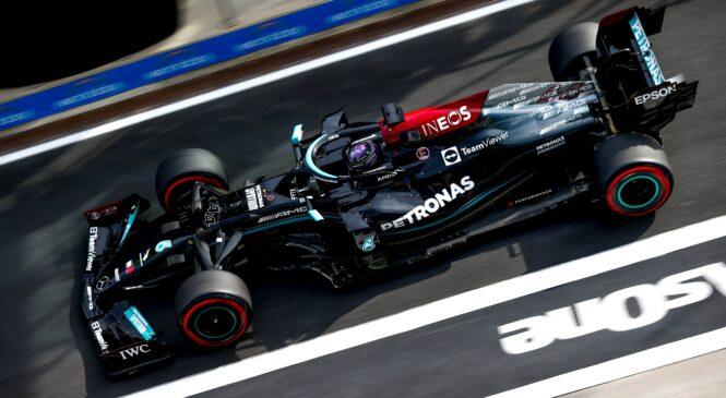 Hamiltonu drugi trening in nov rekord