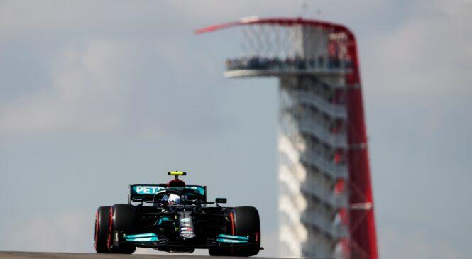 Formula 1, FP1: Mercedesova dirkača v Austinu sekundo pred Verstappnom